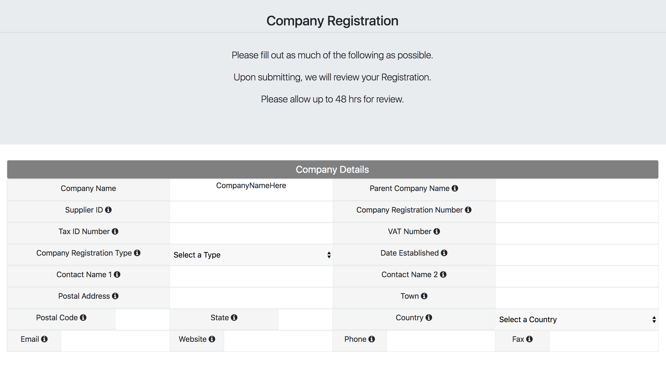 Company registration form1
