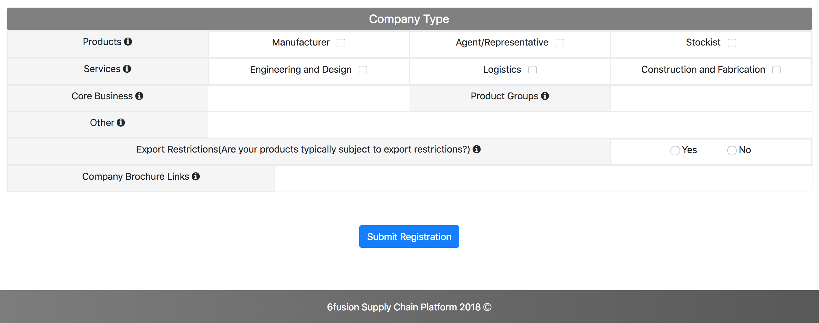 Company registration form2