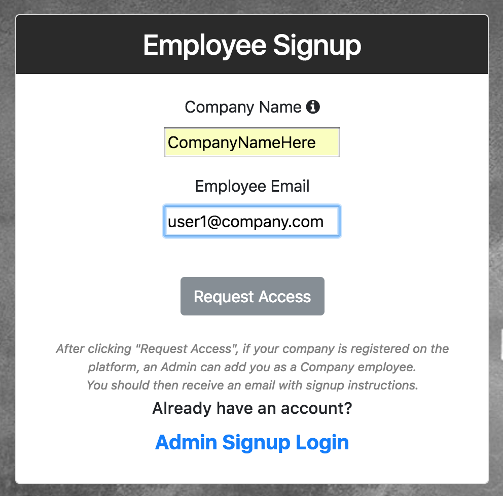 Employee request access